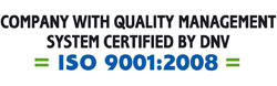 company with quality management system certified by dnv ISO 9001:2008